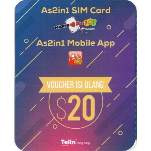 Kartu As2in1 Voucher $20